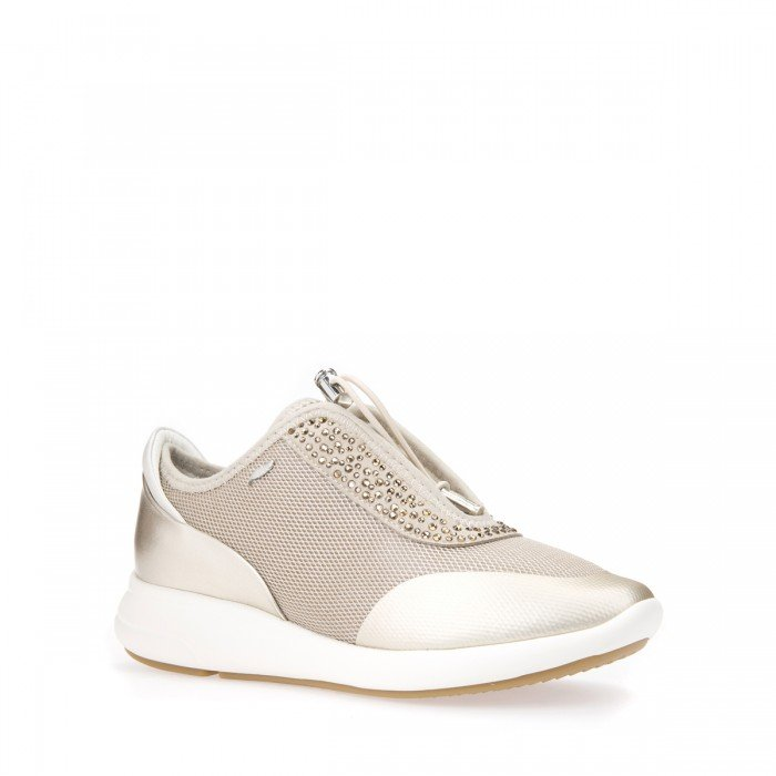 db080047963 Zapatillas mujer Geox oro y taupe