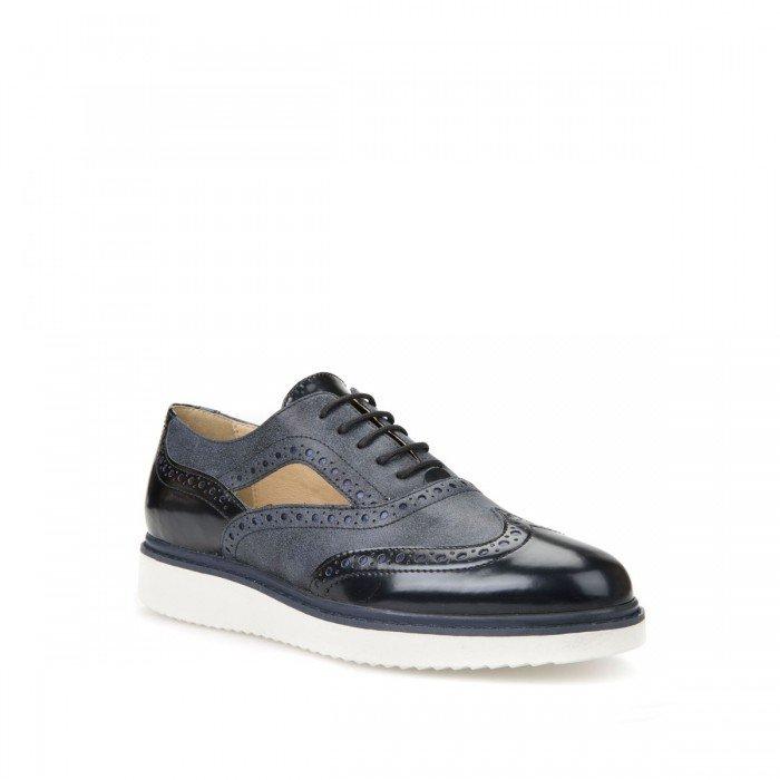 Zapatos mujer Geox Thymar azul.