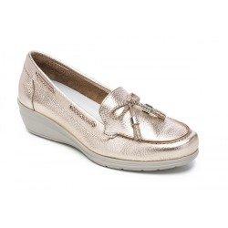 Zapatos Mujer 24 Hrs 23522 Metalizado Champán