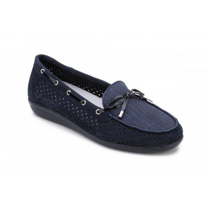 Zapatos Mocasines Mujer 24 Hrs 23533 Combi Azul
