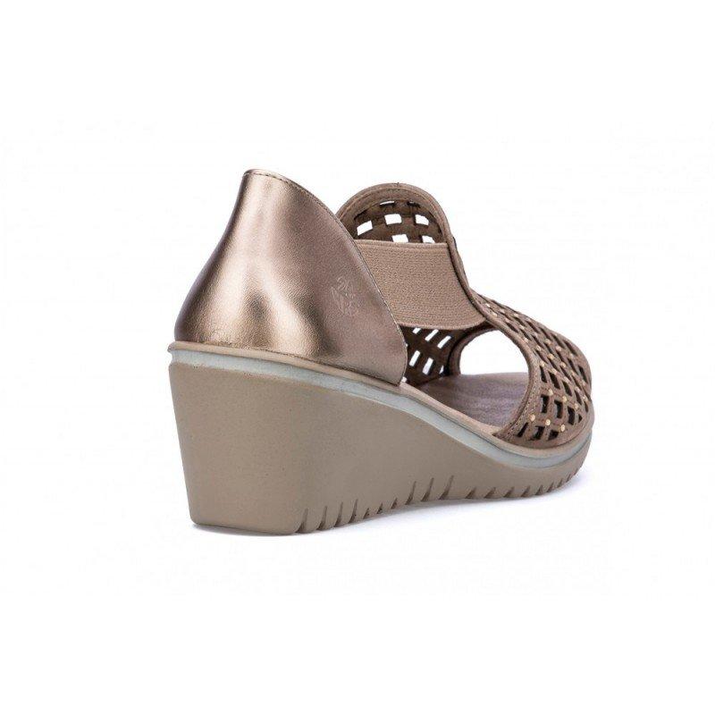 Nuevas En De 24 Sandalias Taupe Oferta 23981 Mujer Piel Metalizado Hrs XiPukZ