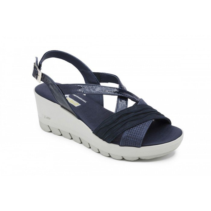 Sandalias mujer 24 Hrs 23626 Combi Azul