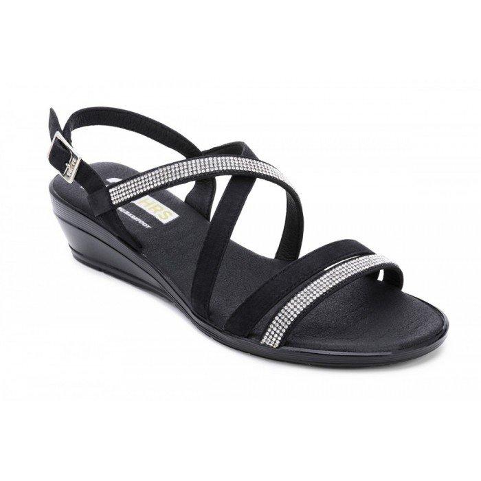 Zapatos mujer 24 Hrs  23636 Nobuck negro