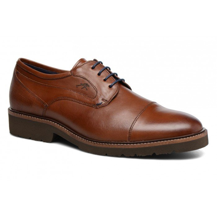 Zapatos Hombre Vestir Fluchos Cavalier 9527 Cuero Camel