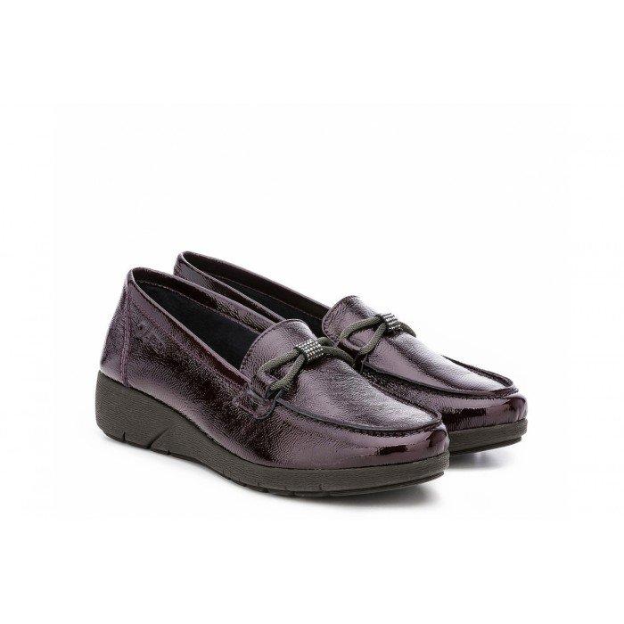 Zapatos mujer 24 Hrs 24241 Burdeos Charol