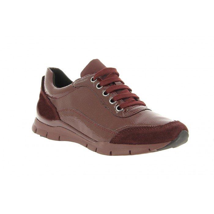 Zapatos Deportivos Mujer Geox Sukie Burdeos