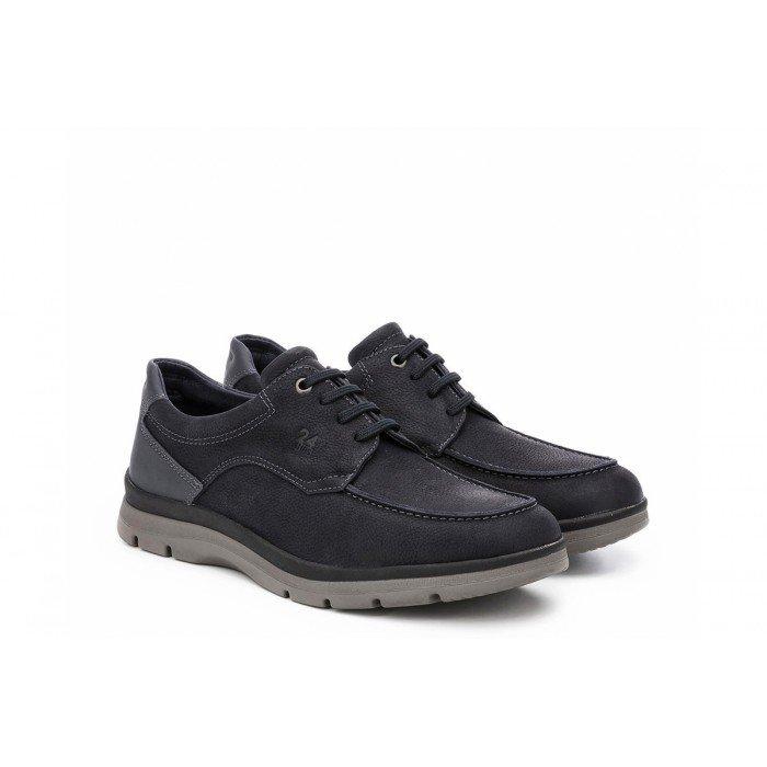 Zapatos 24 Hrs 10489 Azul Cordones