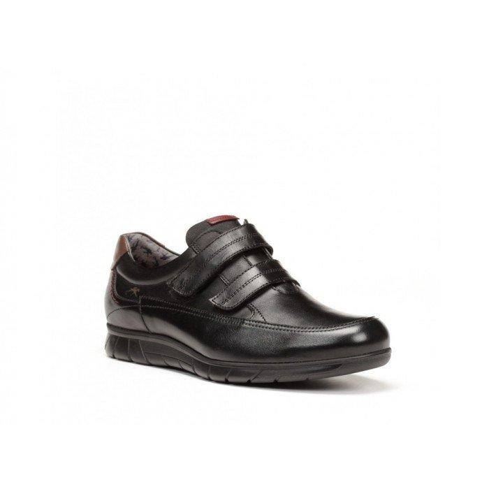 Zapatos Hombre Fluchos Grizzlie F0325 Negro Velcros