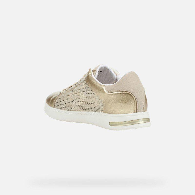 Melancolía álbum de recortes desierto  Zapatillas deportivas Geox D Jaysen A ligera y flexible color oro.