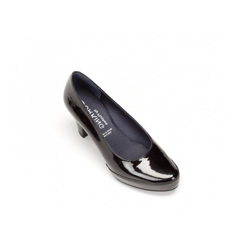 9f0766d6 Zapatos de salón Dorking by Fluchos Gloss negro charol línea Blesa.