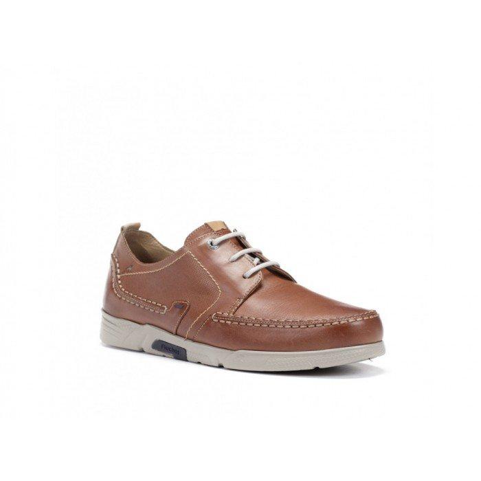 fcba6ab6aa7 Zapatos Fluchos náuticos de hombre color cuero línea Choi.
