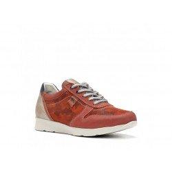 Zapatos Deportivos Hombre Fluchos Kodiak F0127 Delbuck Rojo Terracota