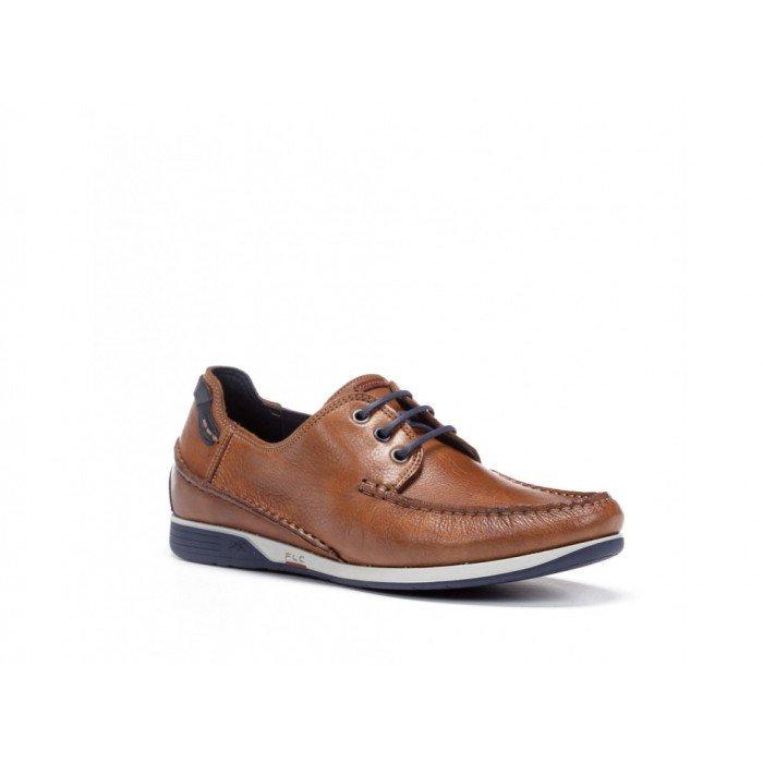 Zapatos Nauticos Hombre Fluchos 9123 Cuero