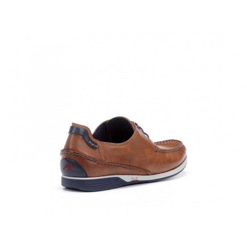 70bc07ab Oferta zapatos de hombre Fluchos James 9123 tipo náuticos color cuero.