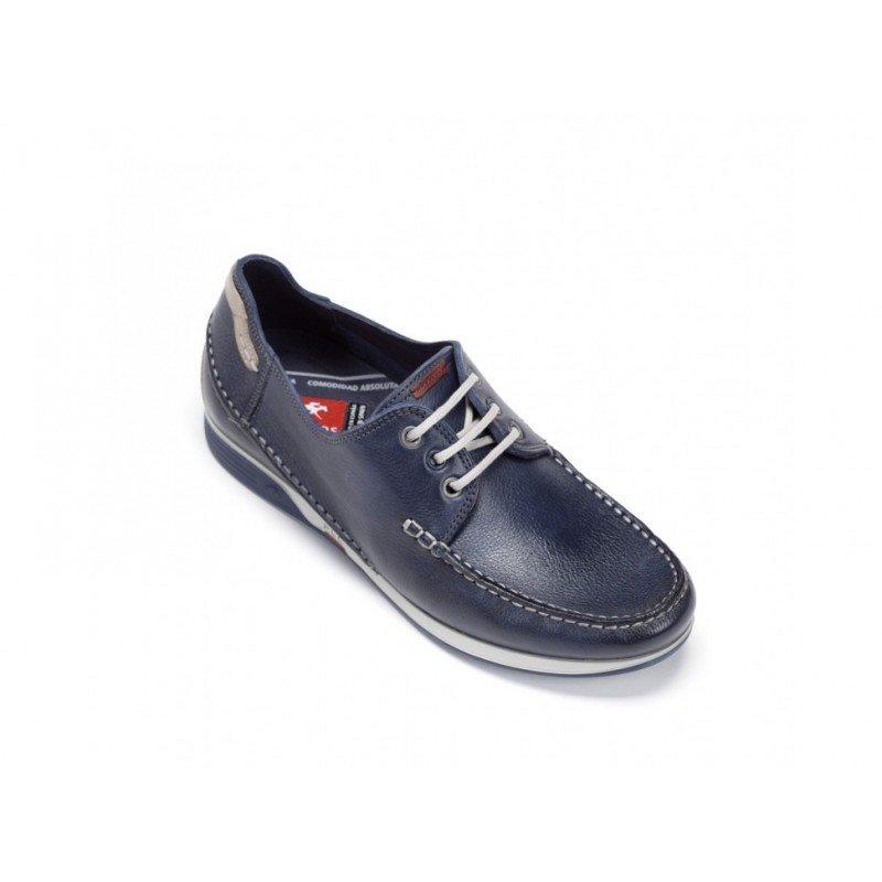e66445c9 Zapatos de hombre Fluchos James 9123 color azul lago tipo náuticos.
