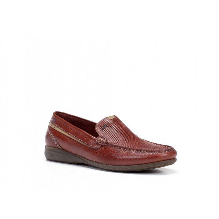 Zapatos Mocasines Hombre Fluchos Morfeo F0539 Rojo Terracota