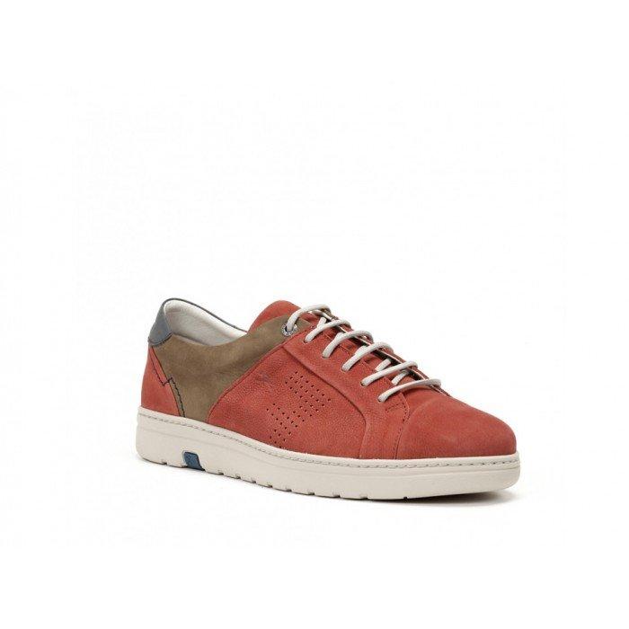 Zapatos Hombre Fluchos Atlas F0152 Rojo Terrecota