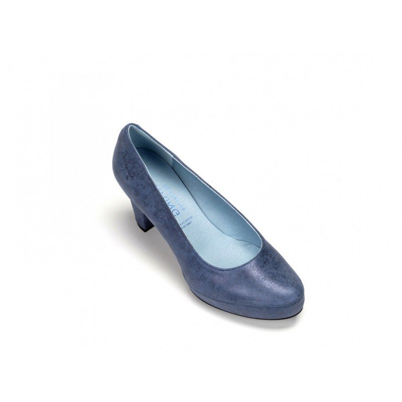 8b2e4647 Zapatos de salón Dorking by Fluchos Blesa D5794 piel Sugar Azul Oceano