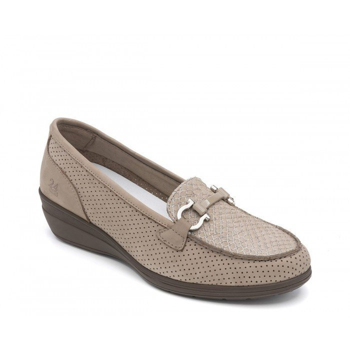 Zapatos Mujer Mocasines 24 Hrs 23524 Taupe