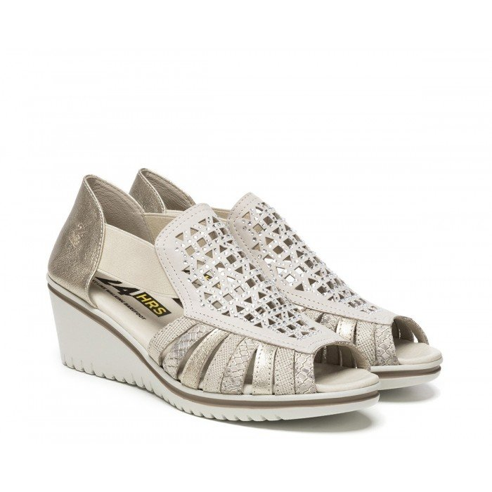 Sandalias Mujer 24 Hrs 23986 Beige