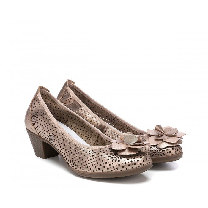 Zapatos Mujer 24 Hrs 23595 Oro Champán