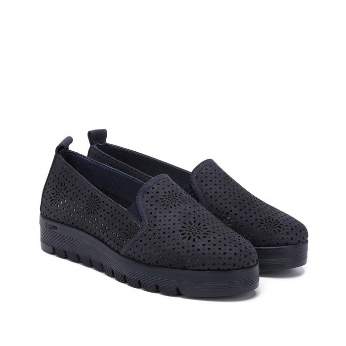Zapatos Mocasines Mujer 24 Hrs 23567 Azul Marino