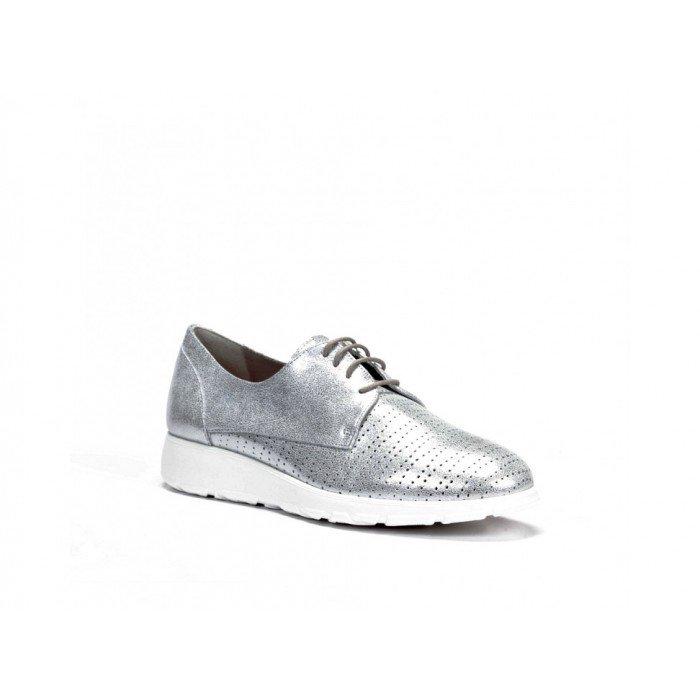 Zapatos Mujer Dorking F0422 Argento Plata