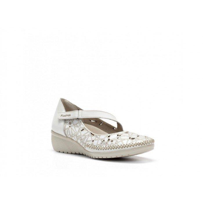 Zapatos Mujer Dorking Yoda F0500 Habana Blanco