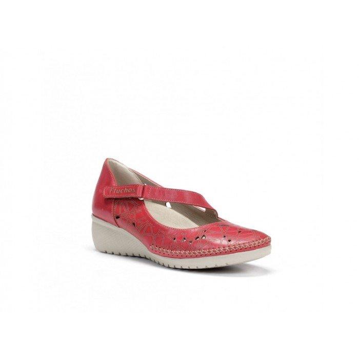 Zapatos Mujer Dorking Yoda F0500 Habana Rojo