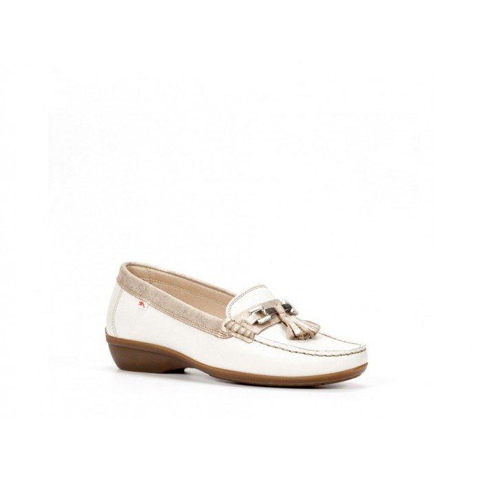 Zapatos Mocasines Mujer Dorking Aduna F0078 Sugar Blanco