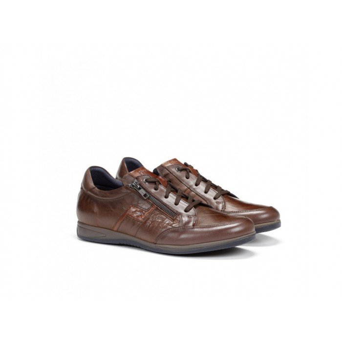 Zapatos Deportivos Hombre Fluchos Daniel F0210 Habana Marrón Castaño