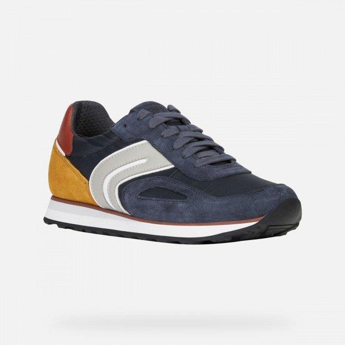 Evaluación posición botón  Zapatillas deportivas de hombre Geox U Vincit C azul combinado.