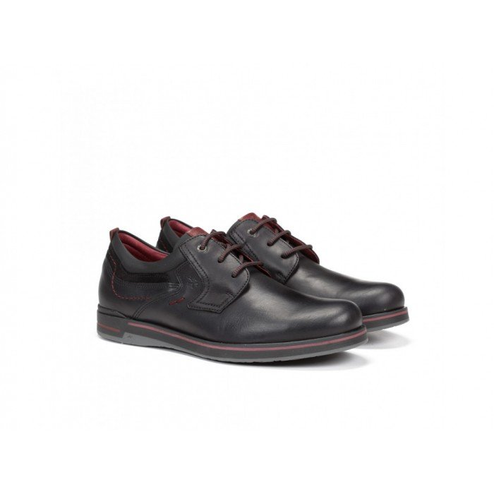 Zapatos Hombre Fluchos Rocket F0391 Niebla Negro