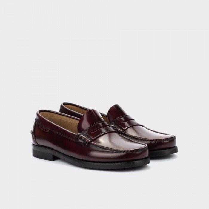 Zapatos Mocasines Hombre Martinelli Alcalá C101-0017AYM Burdeos