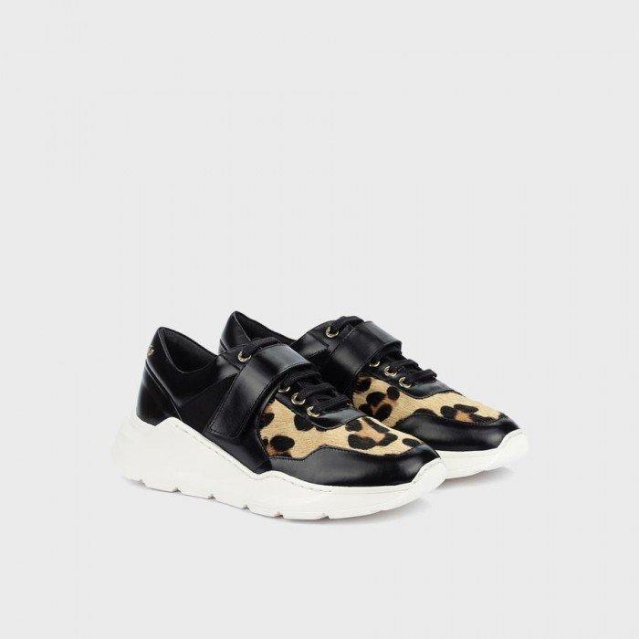 Zapatos Mujer Deportivos Martinelli Kate 1452-5643NJ Negro Leopardo