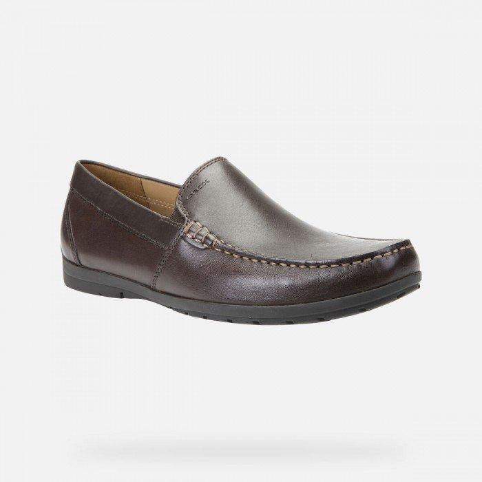 Zapatos Mocasines Hombre Geox Siron Marrón