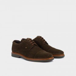 Zapatos Blucher Hombre Martinelli Lenny 1384-1683X Marrón Musgo.