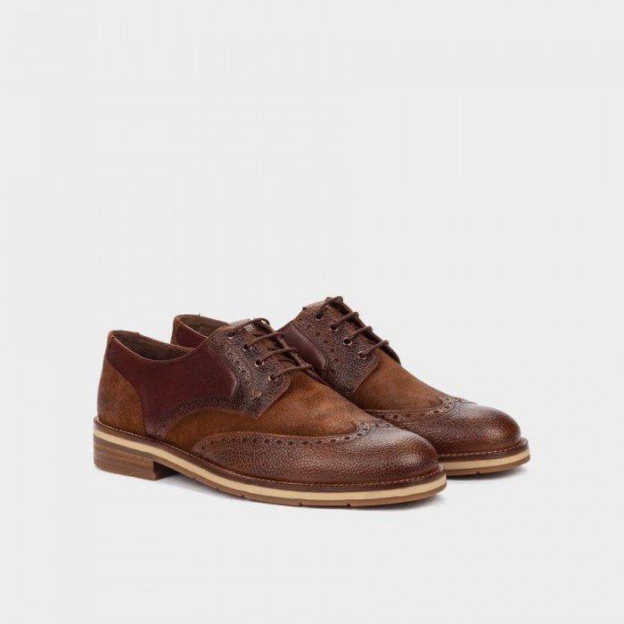 Zapatos Blucher Hombre Martinelli Hambury 1460-1148D Cuero