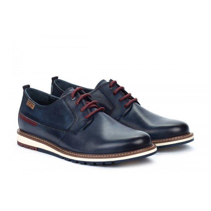 Zapatos Blucher Hombre Pikolinos Berna M8J-4314 Azul