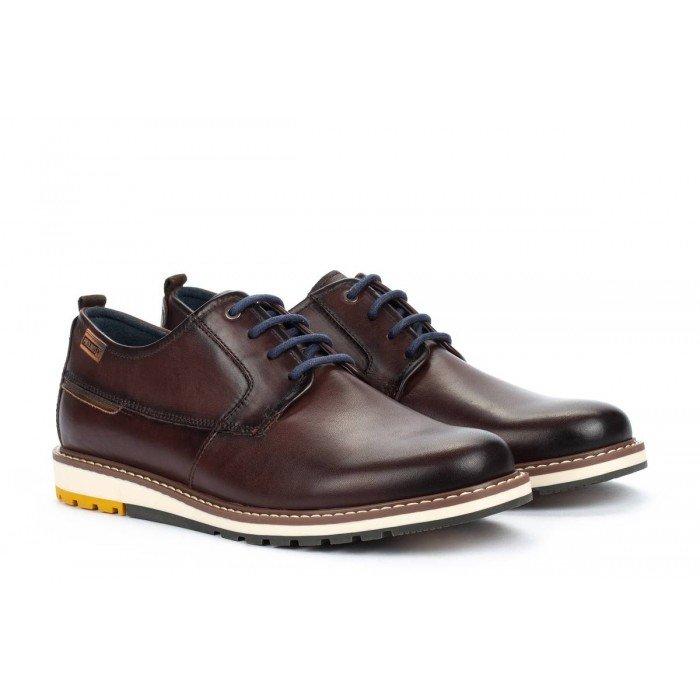 Zapatos Blucher Hombre Pikolinos Berna M8J-4314 Marrón