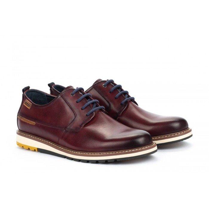 Zapatos Blucher Hombre Pikolinos Berna M8J-4314 Burdeos