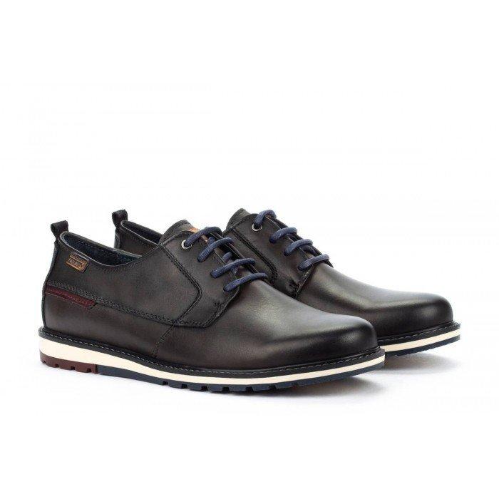 Zapatos Blucher Hombre Pikolinos Berna M8J-4314 Marrón Oscuro.
