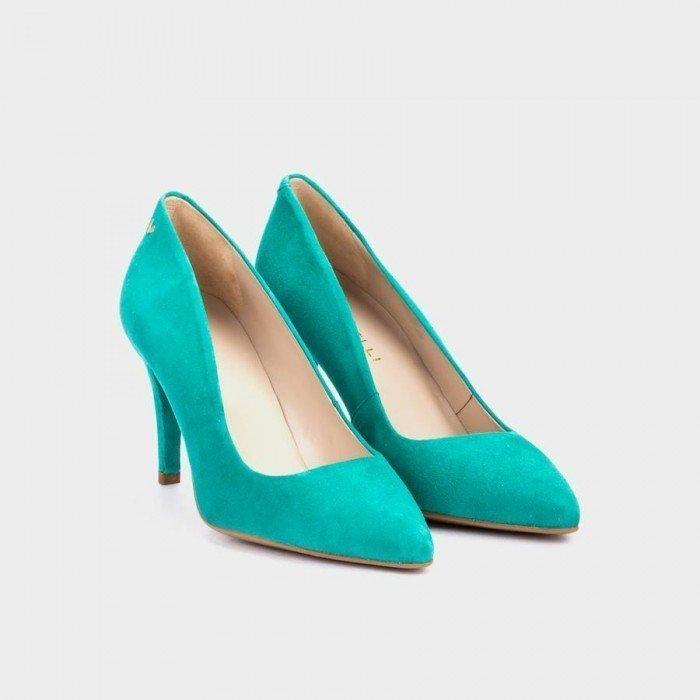 Zapatos Salón Mujer Martinelli Selena 1365-3486A Azul Turquesa