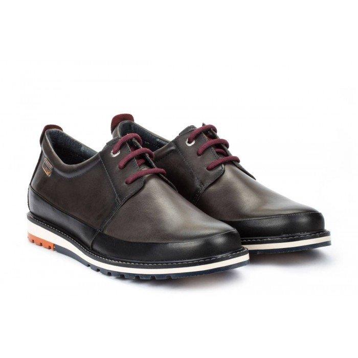 Zapatos Blucher Hombre Pikolinos Berna M8J-4240 Gris Oscuro