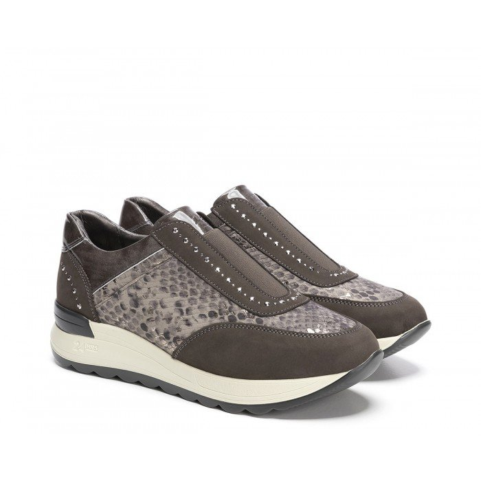 Zapatos Deportivos Mujer 24 Hrs 24310 Gris Musgo