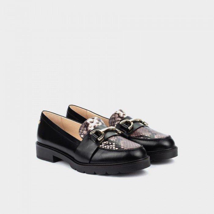 Zapato Mocasín Mujer Martinelli Derek 1449-5555NB Negro