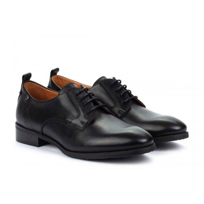 Zapatos Tacon Bajo Pikolinos Royal W4D-4723 Negro