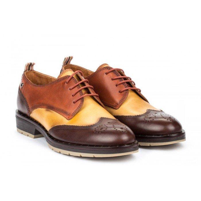 Zapatos Tacon Bajo Mujer Pikolinos Caravaca W2U-4761C1 Marrón Olmo
