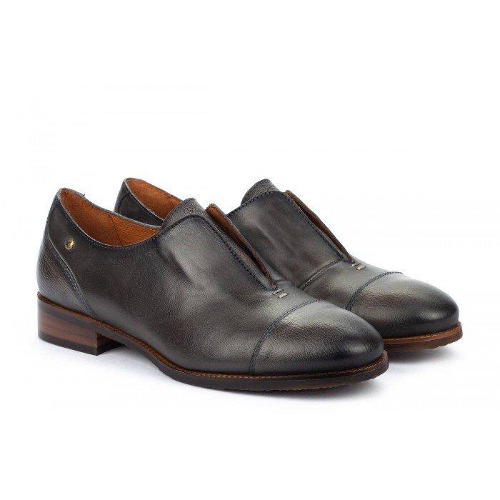 Zapatos Tacon Bajo Mujer Pikolinos Royal W4D-4796VG Marrón Lead