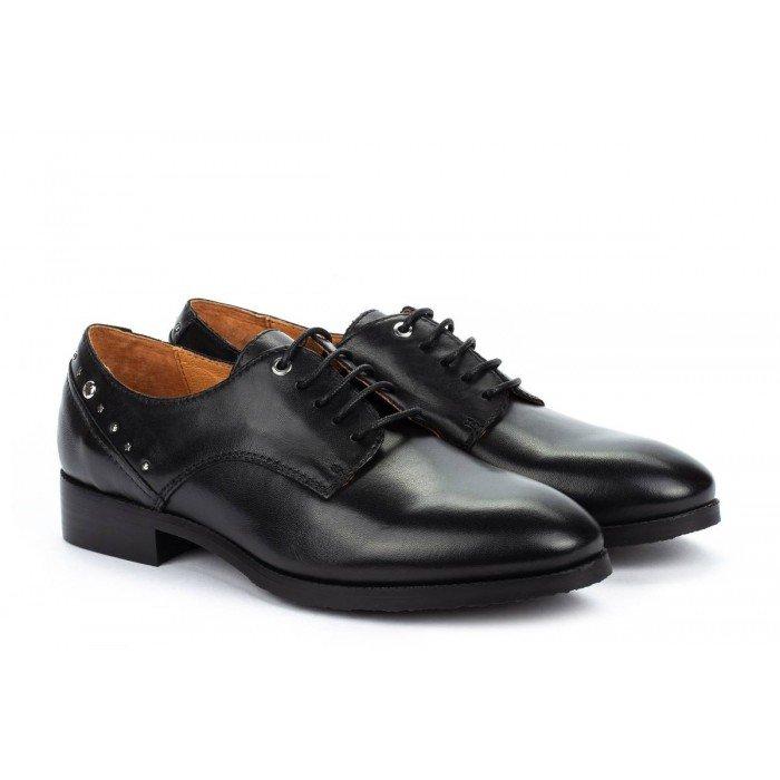 Zapatos Tacon Bajo Mujer Pikolinos Royal W4D-4904 Negro